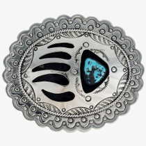 Shadowbox Turquoise Indian Belt Buckle 23846