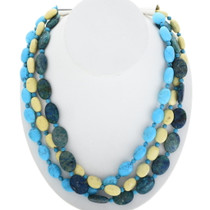 Three Strand Navajo Beaded Necklace 29446