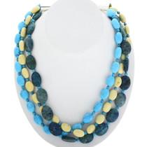 Three Strand Navajo Beaded Necklace 29446