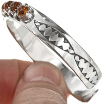 Navajo Amber Sterling Ladies Cuff 29225