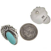 Pretty Navajo Silver Post Earrings 29398