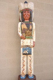 Wooden Cigar Store Indian 10995