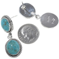 Genuine Turquoise Sterling Earrings 22390