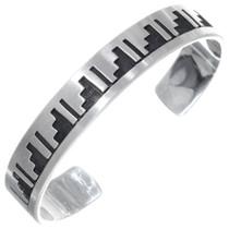 Overlaid Sterling Cuff Bracelet 23236