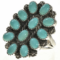 Turquoise Cluster Silver Ring 28826