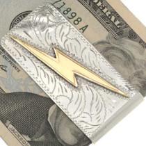 Silver Gold Southwest Money Clip 26693