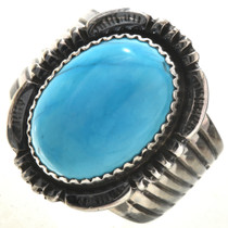 Turquoise Silver Mens Ring 28735