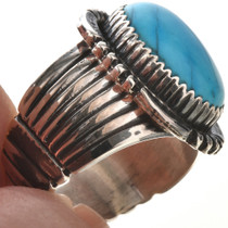 Blue Turquoise Mens Ring 28735