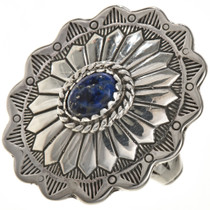 Blue Lapis Silver Concho Ring 28944