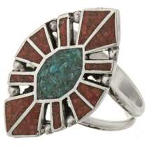 Turquoise Ladies Sterling Ring 27162