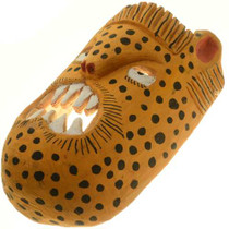 Hand Carved Cheetah Tribal Mask 27635