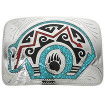 Inlaid Turquoise Belt Buckle 31411