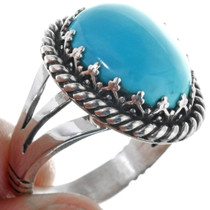 Sleeping Beauty Turquoise Native American Ring 27804