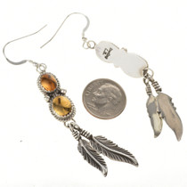 Navajo Sterling Feathers Earrings 29463