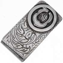 Custom Silver Money Clip 10959