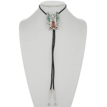 Turquoise Coral Inlaid Bolo Tie 26318