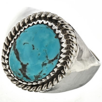 Turquoise Silver Mens Ring 29392
