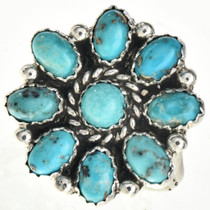 Turquoise Cluster Ladies Ring 29084