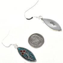 Inlaid Navajo Sterling Earrings 29090