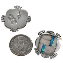 Southwest Opal Pink Shell Zuni Style Earrings 29538