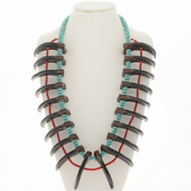 Grizzly Bear Claw Turquoise Necklace 23755