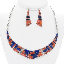 Inlaid Lapis Spiny Oyster Jewelry 24576