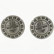 Hopi Sunface Silver Cuff Links 19620