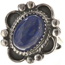 Navajo Lapis Silver Ring 28682