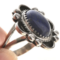 Dark Blue Lapis Ladies Ring 28682
