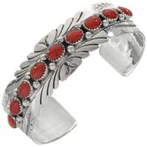 Genuine Coral Native American Bracelet 23226