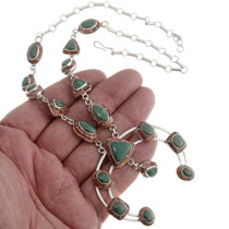Inlaid Sterling Turquoise Squash Blossom Set 29500