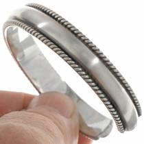 Navajo All Silver Bracelet 20040