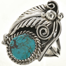 Navajo Turquoise Silver Ladies Ring 24404