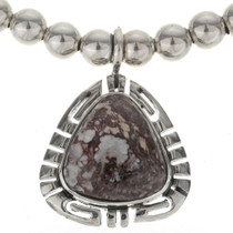 Wild Horse Magnesite Silver Necklace 27765