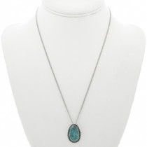 Turquoise Sterling Southwest Pendant 28696