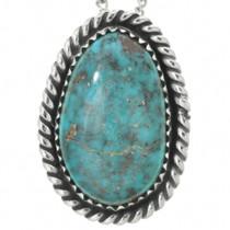Genuine Bisbee Turquoise Pendant 28696