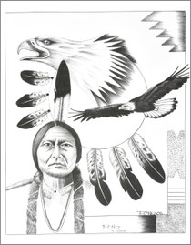 Navajo Eagle Spirit Guardian Print 17208