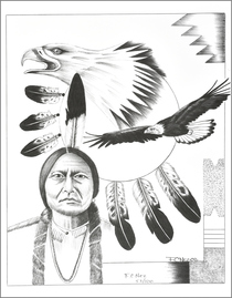 Navajo Eagle Spirit Guardian Print 17208