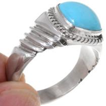 Navajo Mens Turquoise Ring 22408