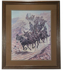 Twenty Mules of Death Valley Framed Print