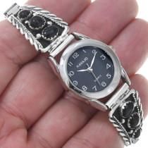 Ladies Onyx Watch 23035