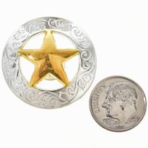 """Silver Gold 1 3/16"""" Concho"""