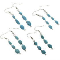 Natural Turquoise Nugget Earrings 28259