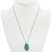 Turquoise Silver Pendant 28653