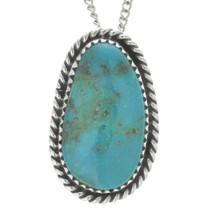 Bisbee Turquoise Navajo Pendant 28653