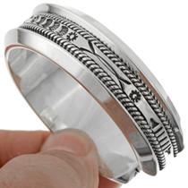 Heavy Gauge Navajo Silver Cuff 27196