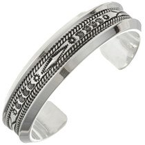 Hammered Silver Mens Cuff 27196