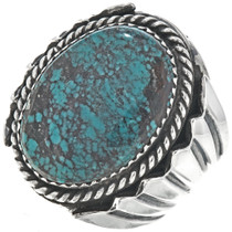 Spiderweb Turquoise Mens Ring 29279
