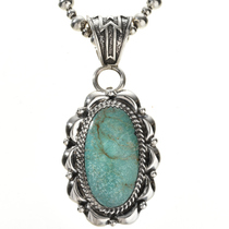 Green Turquoise Silver Pendant 28959