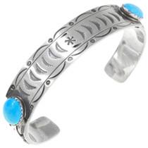 Navajo Turquoise Silver Bracelet  25119